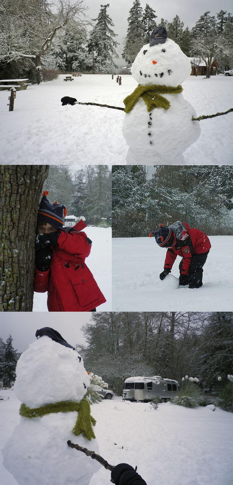 Orcas Island Snow Man