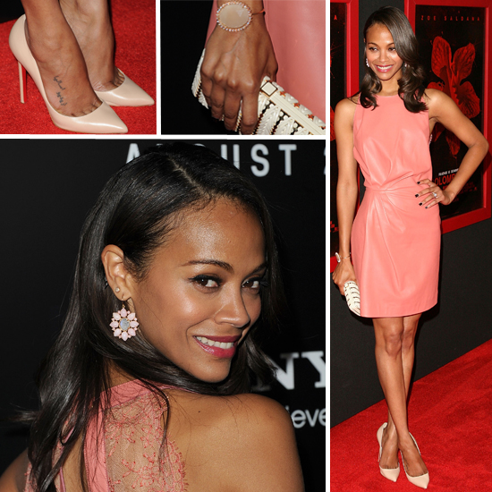 Zoe Saldana has recently been on the red carpet for her new movie Colombiana ...
