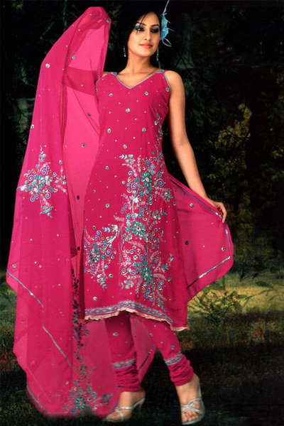Hand Embroidered Salwar Kameez - Free Embroidery Patterns